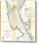 1865 Us Coast Survey Map Or Chart Of Providence Rhode Island Metal Print
