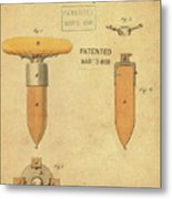 1868 Base For Baseball Players Patent In Sepia Metal Print