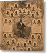1868 Commemorative Photo Collage Metal Print