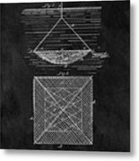 1869 Fishnet Patent Metal Print