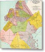 1869 King County Map Metal Print