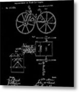 1871 Hand Carriage Patent Drawing Metal Print