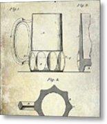 1873 Beer Mug Patent Metal Print