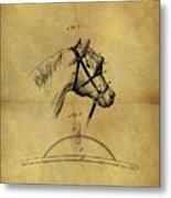 1874 Horse Blinder Patent Metal Print