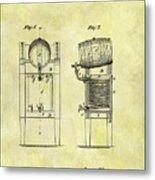 1876 Beer Cooler Patent Metal Print