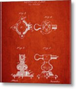 1879 Exercise Machine Patent Spbb08_vr Metal Print