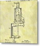 1881 Beer Cooler Patent Metal Print