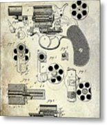 1881 Revolver Patent  Metal Print