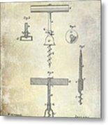 1884 Corkscrew Patent Metal Print