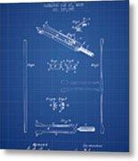 1885 Tuning Fork Patent - Blueprint Metal Print