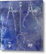 1886 Calipers Patent Blue Metal Print
