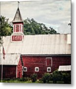 1886 Red Barn Metal Print by Lisa Russo