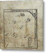 1887 Baseball Game Patent Metal Print