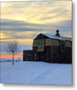 1888 Barn In Winter 02 Metal Print