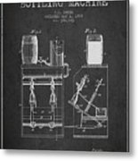 1888 Beer Bottling Machine Patent - Charcoal Metal Print