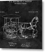 1888 Horse Drawn Carriage Metal Print