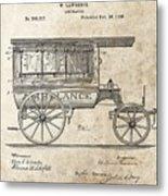1889 Ambulance Patent Metal Print