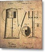 1889 Coffee Maker Patent Metal Print