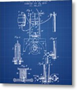 1890 Bottling Machine Patent - Blueprint Metal Print