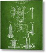 1890 Bottling Machine Patent - Green Metal Print