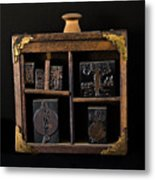 1890 Ink Stamps For Letters Metal Print
