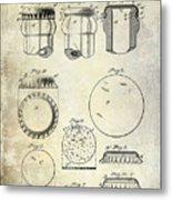 1892 Bottle Cap Patent  Metal Print