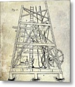 1893 Oil Well Rig Patent Metal Print
