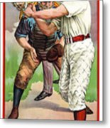 1895 In The Batters Box Metal Print