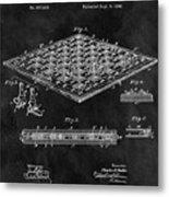 1896 Chessboard Patent Metal Print
