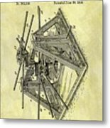 1896 Oil Rig Illustration Metal Print