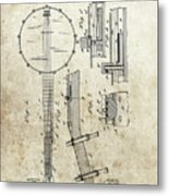 1897 Banjo Patent Metal Print