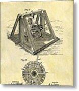 1897 Oil Rig Patent Metal Print