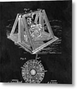 1897 Oil Well Rig Patent Design Metal Print