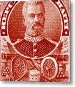 1898 President Of Haiti Stamp Metal Print