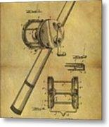 1899 Fishing Reel Patent Metal Print