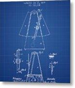 1899 Metronome Patent - Blueprint Metal Print