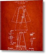 1899 Metronome Patent - Red Metal Print