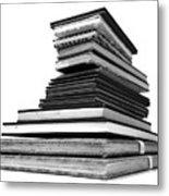 1.8.stack-of-sketch-books Metal Print