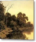 Johnstone Henry James A Backwater Of The River Murray South Australia Henry James Johnstone Metal Print