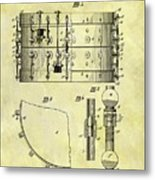 1900 Band Drum Patent Metal Print