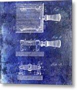1900 Knife Switch Patent Blue Metal Print