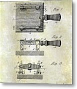 1900 Knife Switch Patent Metal Print