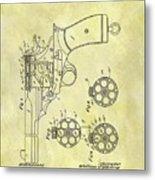 1901 Automatic Revolver Patent Metal Print