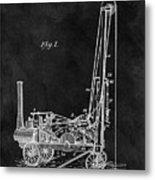 1902 Oil Well Patent Metal Print