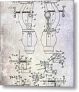1902 Watchmakers Lathes Patent Metal Print