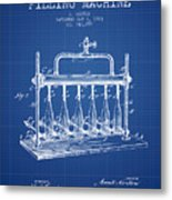 1903 Bottle Filling Machine Patent - Blueprint Metal Print