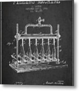 1903 Bottle Filling Machine Patent - Charcoal Metal Print