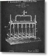 1903 Bottle Filling Machine Patent - Charcoal Metal Print