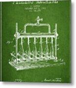 1903 Bottle Filling Machine Patent - Green Metal Print