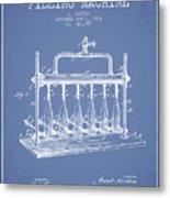 1903 Bottle Filling Machine Patent - Light Blue Metal Print